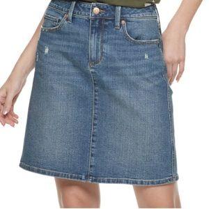 Sonoma light wash A-line denim skirt